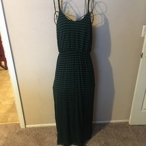 🎉Cute striped maxi summer dress size large🎉
